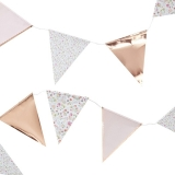 Disty Floral Rose Gold Foiled Bunting