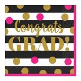 Grad Confetti Gold Lunch Napkin