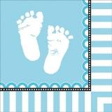 Sweet Baby Feet Blue Napkins