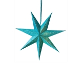 7-Arm Teal Color Star With Glitter & LED's