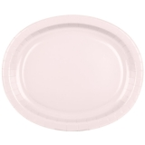 Classic Pink Oval Platters