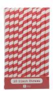Mix & Match Red Jumbo Paper Straws