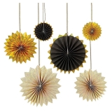 Black & Gold Pinwheels