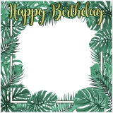 Tropical Happy Birthday Frame Medium Size