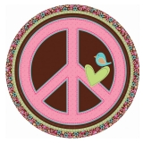 Hippie Chick Peace Sign Foil Balloon