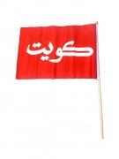 Kuwait Flag with Stick Medium
