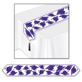 Printed Graduation Cap Table Runner Purple