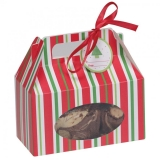 Red and Green Stripes Treat Box