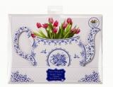 Party Porcelain Blue Teapot