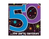 The Party Continues - 50 Ultra  Beverage Napkin