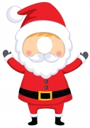 Santa Cut Out Stand
