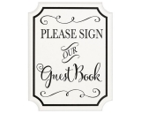 Easel Sign Guest Book