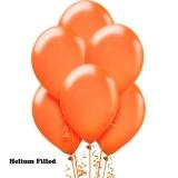 100 Helium Latex Balloons Orange
