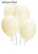 20 Helium Ivory Silk Latex Balloons