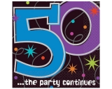 The Party Continues 50 Ultra Lunch Napkin
