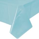 Pastel Blue Plastic Table Cover
