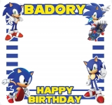 Sonic The Hedgehog Theme Happy Birthday Frame Small Size