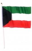 Kuwait Flag with Wooden Stick Medium