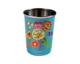 Hand Painted Turquoise Tumbler