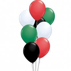 20 Helium Filled National Day Mixed Colors Balloons